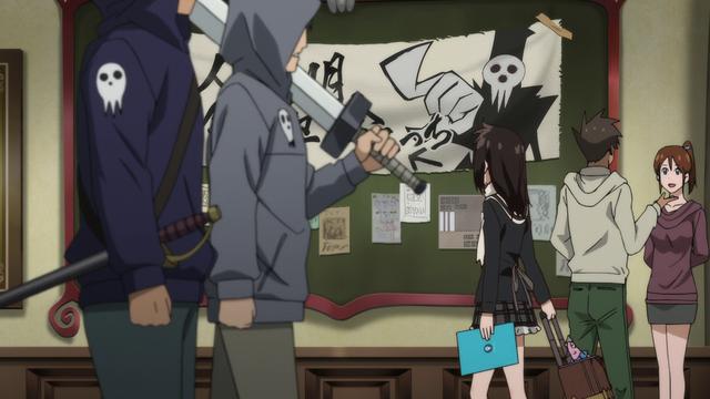 File:Episode 1 (NOT!) - Tsugumi exporing the halls of DWMA.png