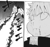 Soul Eater Chapter 108 - Black Star vomits Asura's laser