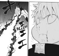 Soul Eater Chapter 108 - Black Star vomits Asura's laser