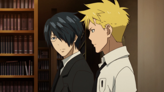 File:Soul Eater NOT Episode 10 HD - Akane and Clay investigate break in.png