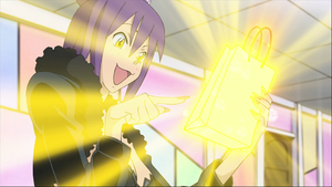 Episode 14 - Blair uses her magic to shrink a present for Maka