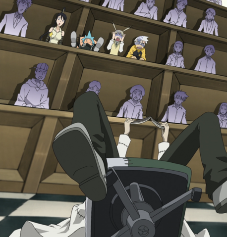 File:Soul Eater Episode 5 HD - Stein arrives to class 1.png