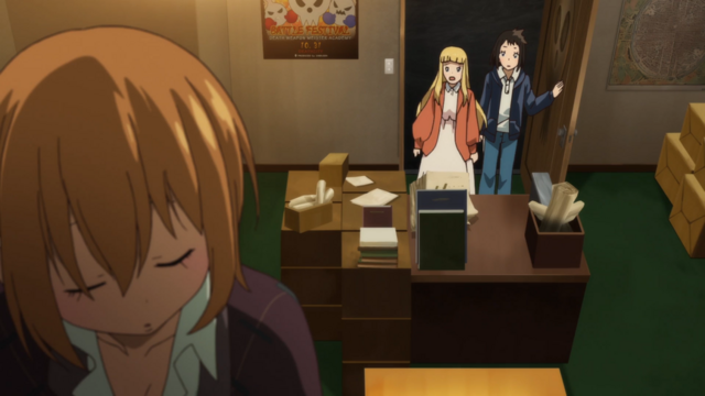 File:Soul Eater NOT Episode 10 HD - Anya and Tsugumi discover Meme in Anti Witch Headquarters.png