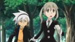 Soul Eater Episode 37 HD - Maka and Soul Evans practice in Second Campus (1)