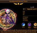 Awakened Sword Sion