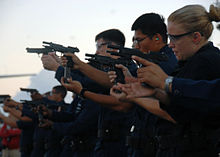 File:220px-US Navy 080713-N-0998G-044 Sailors aboard the amphibious assault ship USS Bonhomme Richard (LHD 6) (BHR) conduct small arms qualification.jpg