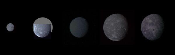 Uranian moon montage