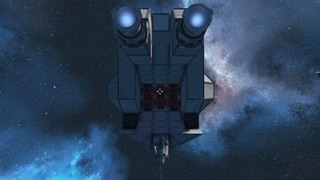 Military Minelayer stern