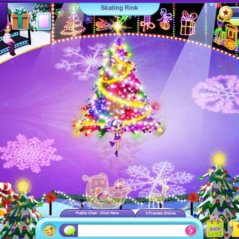The Skating Rink in Christmas decorations (2013). Picture taken from SCW's facebook.