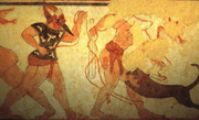Etruscan funeral game
