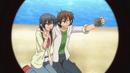 Hikari and Tadashi taking a picture together