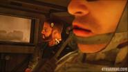 Walker in humvee