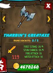 Tharbins great axe 35