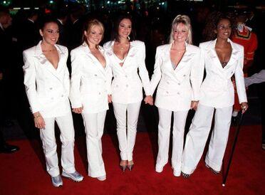 The Spice Girls wear White outfits like John Lennon