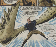 Sandman using his shape shifting ability to turn his arms into weapons