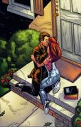 Mary Jane (Earth-1610) & Harry Osborn kissing