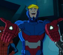 Harry Osborn (Earth-12041) as the Patrioteer