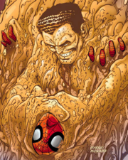 Sandman turning his body into sand