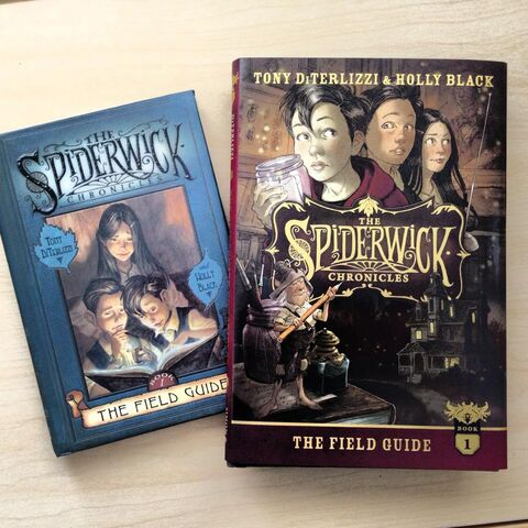 File:Here's a copy of the original edition of Spiderwick book 1 alongside the Anniversary Edition..jpg