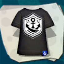 Top Black Anchor Tee