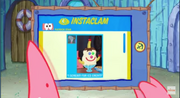 Patrick Star Checks His Instaclam 06