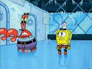 Krabs Chases Plankton