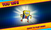 Bikini Bottom Brawlers SpongeBob in wrestling outfit you win