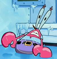 Frozen Mr. Krabs