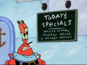 Today's Specials in Squidward in Clarinetland
