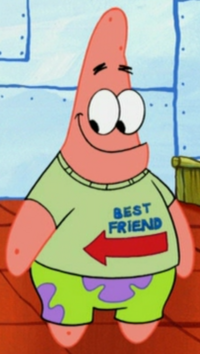 Patrick Wearing the Best Friend Shirt