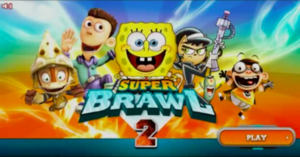Super Brawl 2 old title screen