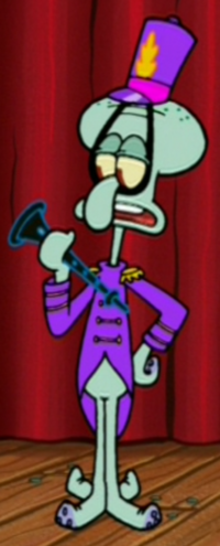 Squidward Wearing His Concert Uniform
