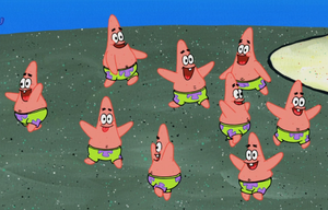 Mini Patrick Star in CopyBob DittoPants