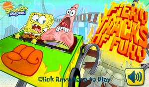 Fiery Tracks of Fury new title screen