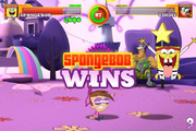 Jingle Brawl SpongeBob wins