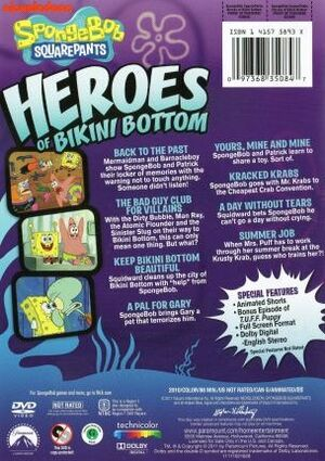 Heroes of Bikini Bottom DVD Back Cover