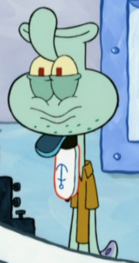 Squidward with an Upside-Down Head