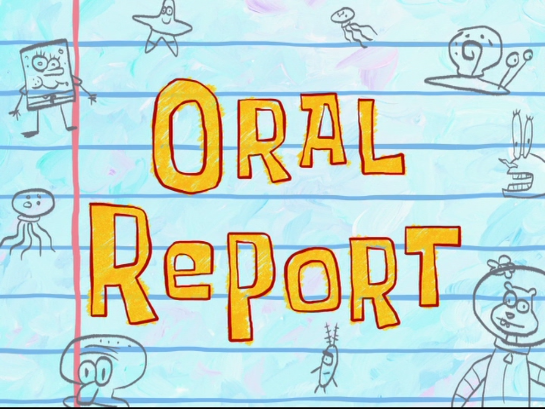 how to start an oral report