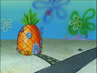 SpongeBob's pineapple house in Season 1-4