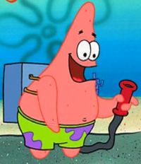 Patrick with a Reef Blower