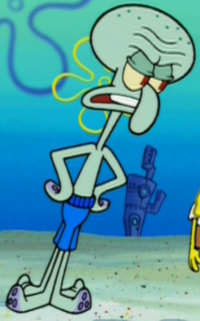 Squidward Wearing a Swim Suit2