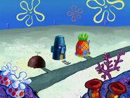 Spongebob squdward and patricks houses