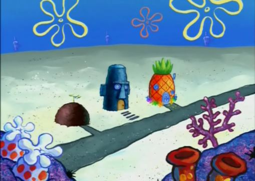 File:Spongebob squdward and patricks houses.jpg