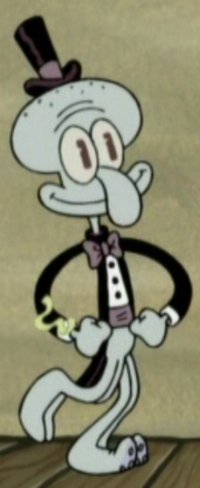 Squidward Wearing Fancy Clothes7
