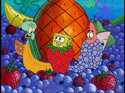 Squidward, Spongebob, & Patrick (All As Different Fruit)