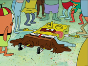 SpongeBob's pants deflate in TSWCF