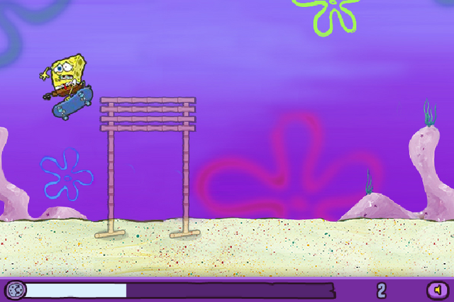 File:SpongeBob bumping into high bamboo bars in Skater Sponge.png
