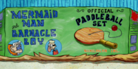 Mermaid Man and Barnacle Boy Paddle Ball Set