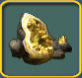Yellow geode icon