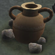 Ancient urn of the spurg